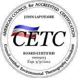 John P. Lapotaire CETC Certified Indoor Environmental Thermography Consultant ACAC
